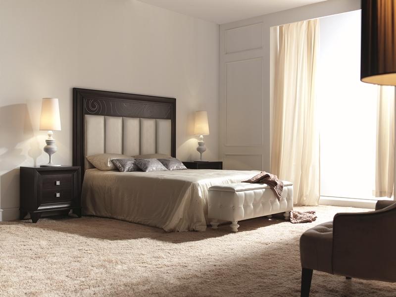 Chambre en teinte couleur 204 avec t te de lit tapiss e en tissu 62 mod 23 - Tissu capitonne pour tete de lit ...