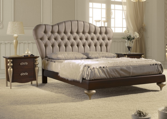 Bedroom with upholstered headboard. Mod. PASION-D41