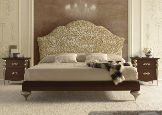 Bedroom with upholstered headboard. Mod. PASION43