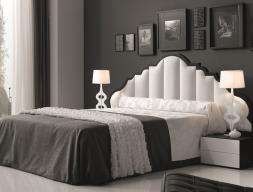 Bedroom with uphosltered headboard. Mod. BELLUCI