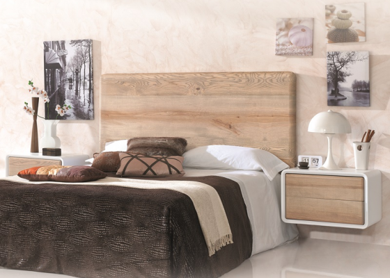 Ash wood bedroom. Mod. NORDIC 500
