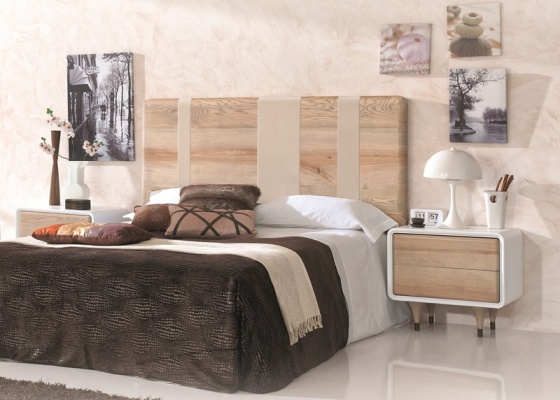 Ash wood bedroom. Mod. NORDIC POLIPIEL 500