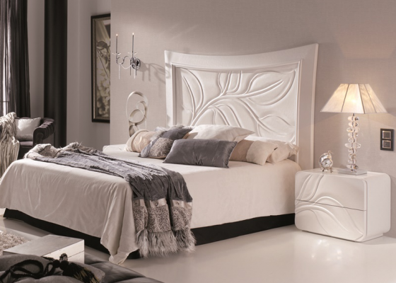 Lacquered bedroom. Mod. HOJAS