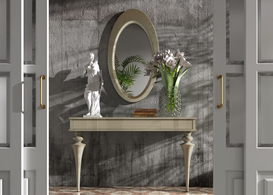 Set of console and mirror. Mod. OLEANA