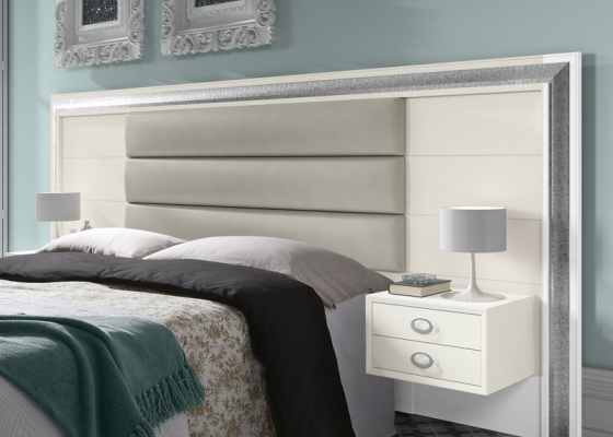 Bedroom with large headboard. Mod. GA21