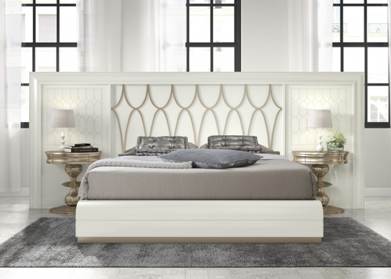 Bedroom with large headboard. Mod. GA23