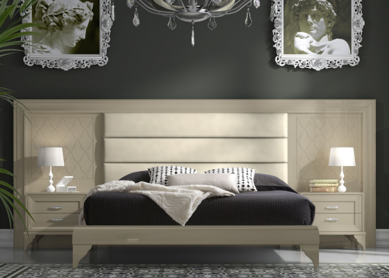 Bedroom with large headboard. Mod. GA22