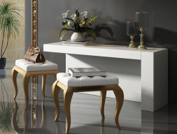 Set of vanity table and bench. Mod. BELLO2