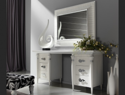 Set of dressing table and mirror. Mod. SIENA