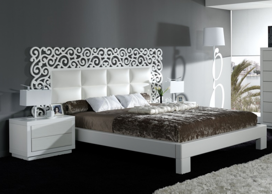 Bedroom with openwork headboard. Mod. CASSANDRA BLANCO