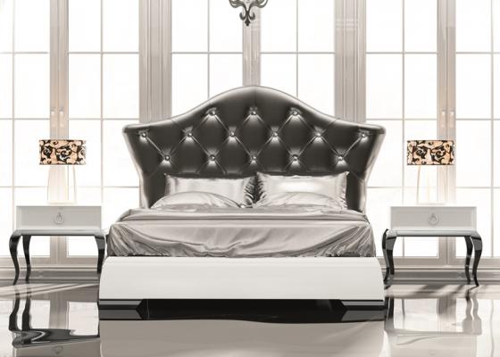 chambre avec t te de lit garnie mod luxe 16. Black Bedroom Furniture Sets. Home Design Ideas