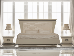 Bedroom with upholstered headboard. Mod. IMPERIAL 12
