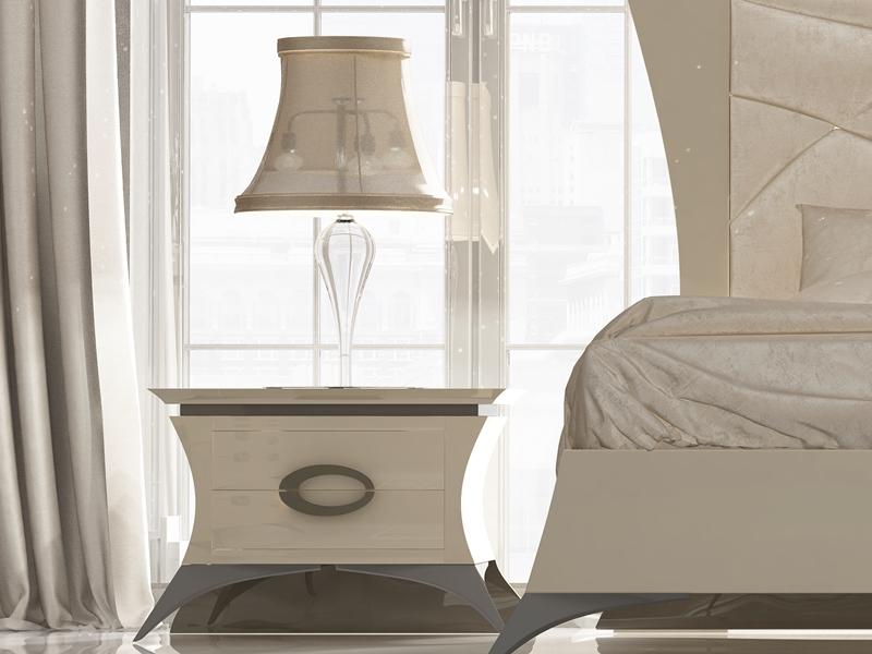 Chambre avec t te de lit garnie en tissu mod imperial 12 for Chambre garnie