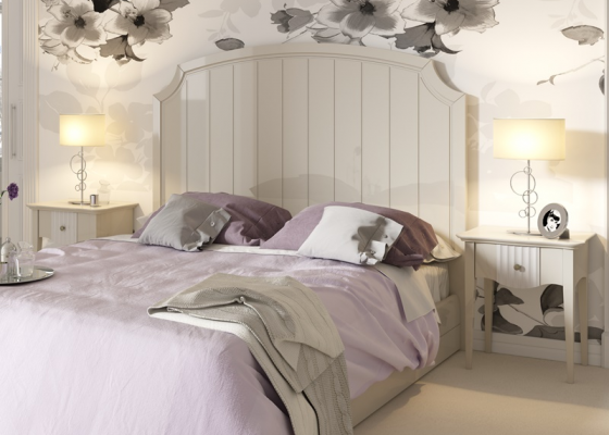 Lacquered bedroom. Mod. AGATHE