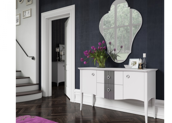 Set of sideboard and mirror. Mod. NP003