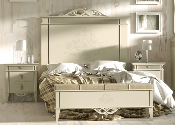 Lacquered bedroom. Mod: ROYAL03