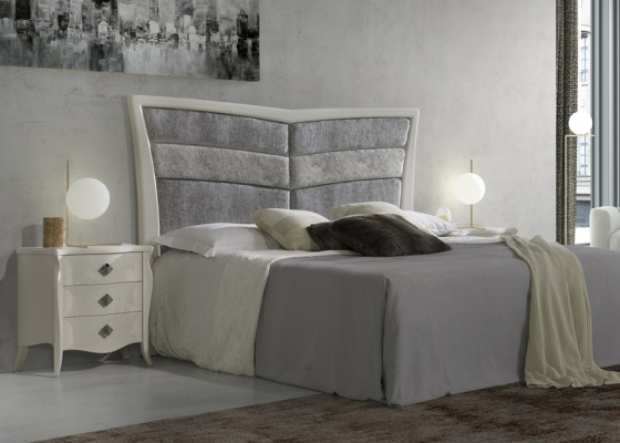 Lacquered and upholstered bedroom. Mod: ALADA TP
