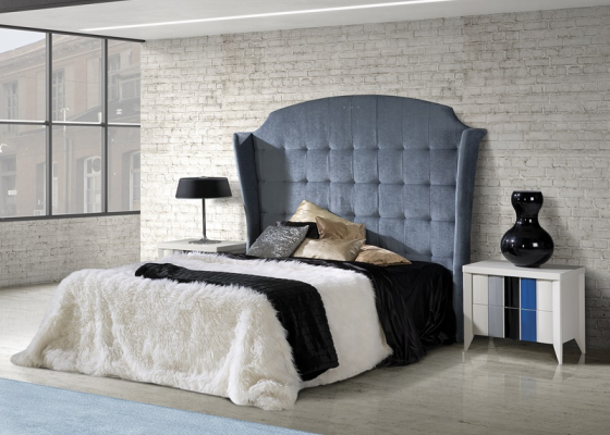 Lacquered and upholstered bedroom. Mod: VIENA