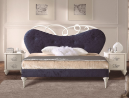Lacquered and upholstered bedroom. Mod: SYROS