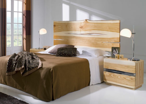 Ash wood bedroom. Mod. AMBAR