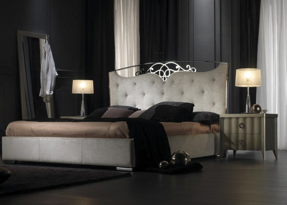 Lacquered and upholstered bedroom. Mod. ILUSIÓN