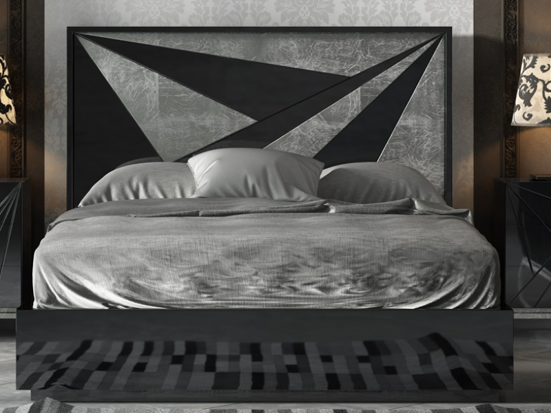 Lacquered bedroom. Mod: IKU