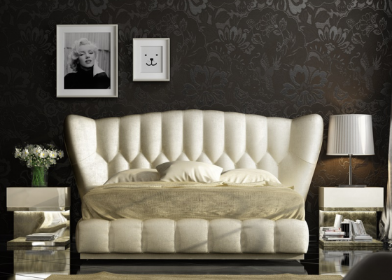 Upholstered and lacquered bedroom. Mod.ZARAH
