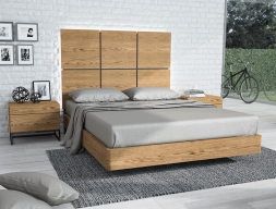 Oak wood bedroom. Mod. PLAZA