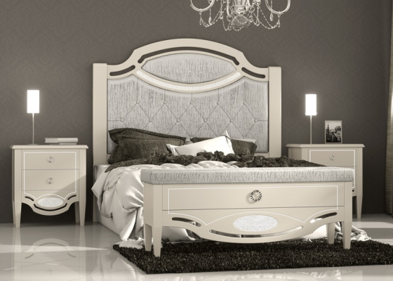 Lacquered and upholstered bedroom. Mod. SUITE CLASSIC