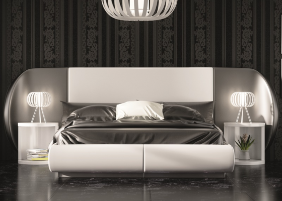 Lacquered an uphosltered bedroom. Mod. AYSEL
