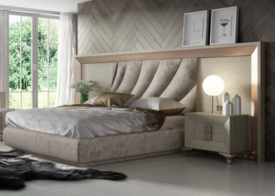 Oak upholstered bedroom. Mod. DUNE