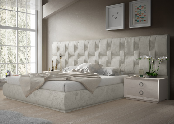 Design uphosltered bedroom. Mod. LALEH
