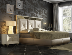 Lacquered and upholstered bedroom. Mod. ONUR