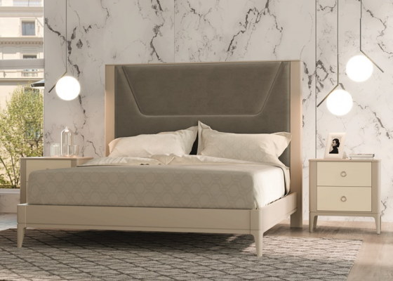 Lacquered and upholstered bedroom. Mod. JOSEPHINE
