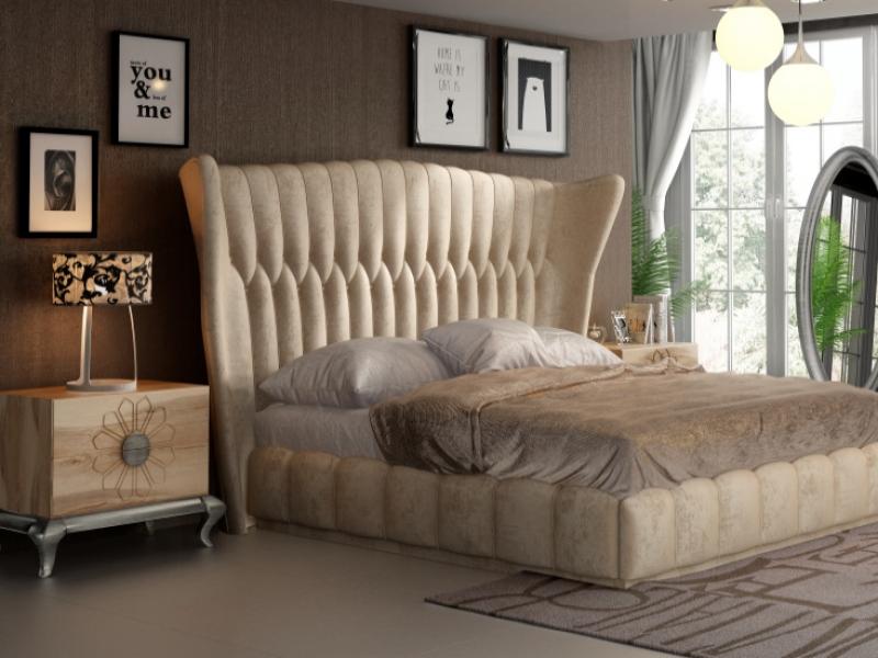 Oak and upholstered bedroom. Mod. NOEMI