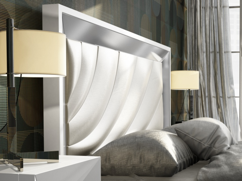 Lacquered and upholstered bedroom. Mod. ZULEMA
