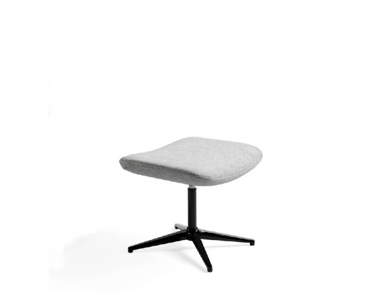 Set of swivel armchair and pouf. Mod. ADELE