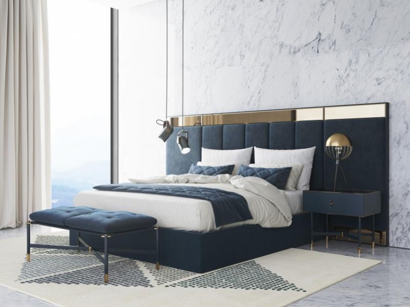Design and upholstered bedroom. Mod: MONSIEUR