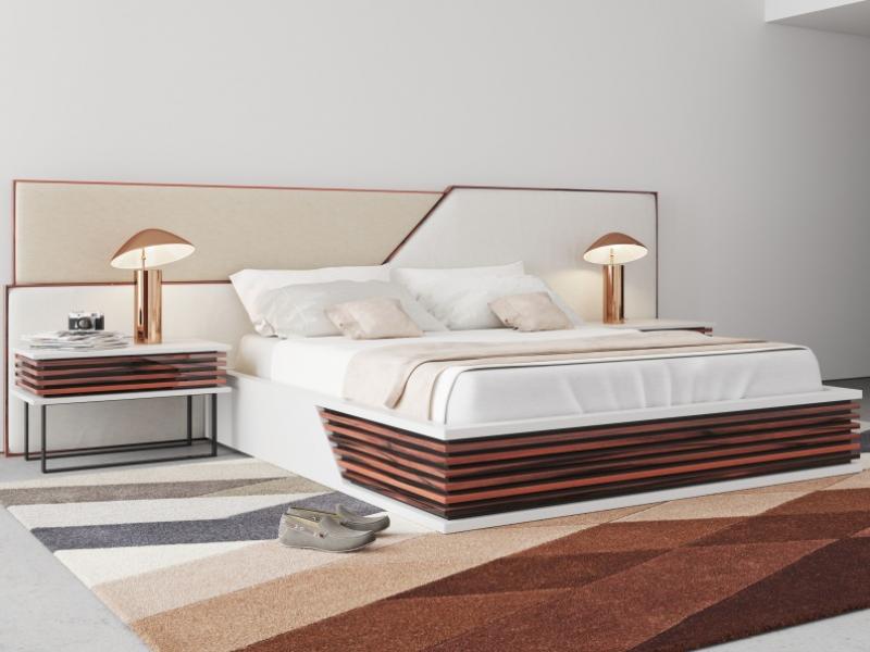 Design and upholstered bedroom.Mod: AJACCIO