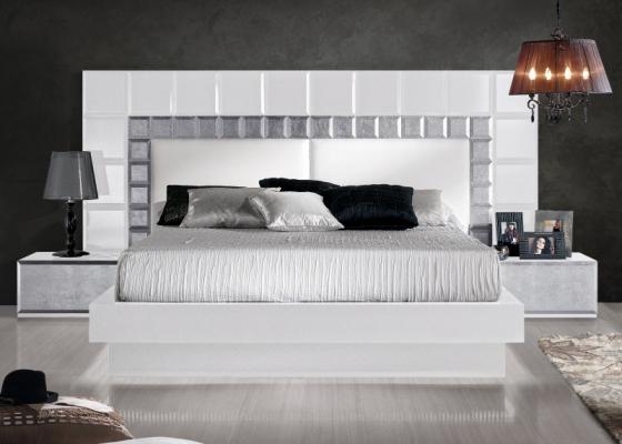 Design lacquered bedroom. Mod.NATASSIA WHITE