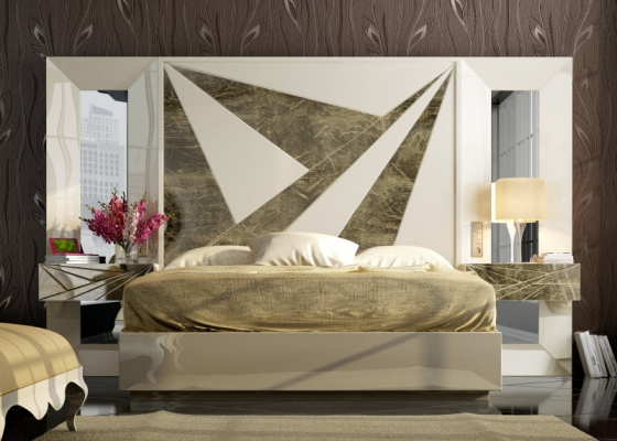 Lacquered design bedroom .Mod: BADRA