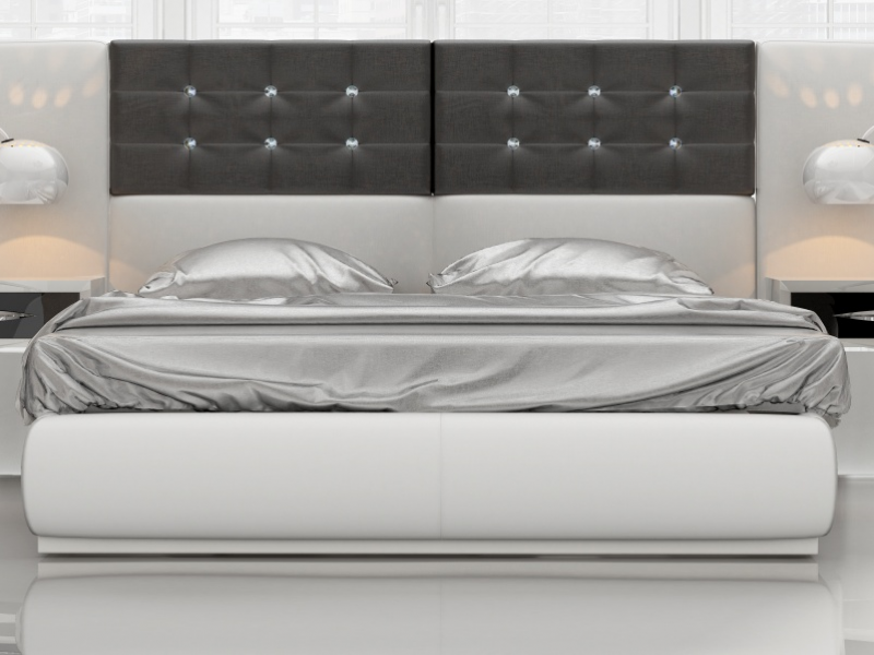 Lacquered and Upholstered design bedroom .Mod: ALEA