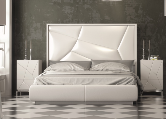Upholstered and lacquered design bedroom .Mod: NADUA
