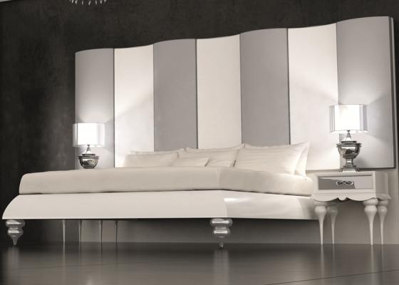 Base de lit pour t te de lit laqu e en blanc 120 pieds - Cabecero polipiel carrefour ...