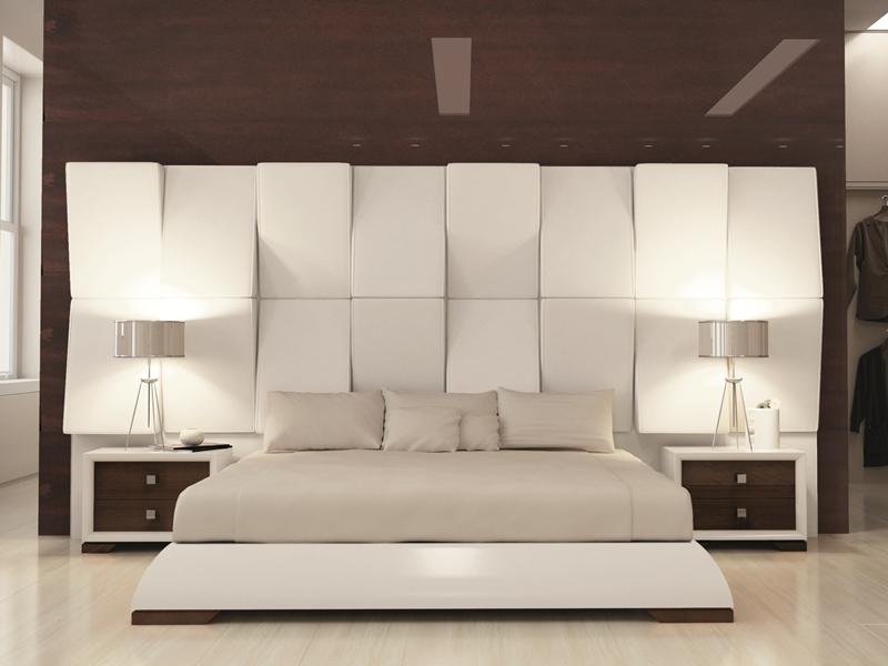 Tour de lit pour tête de lit, laquée en blanc 120 et pieds