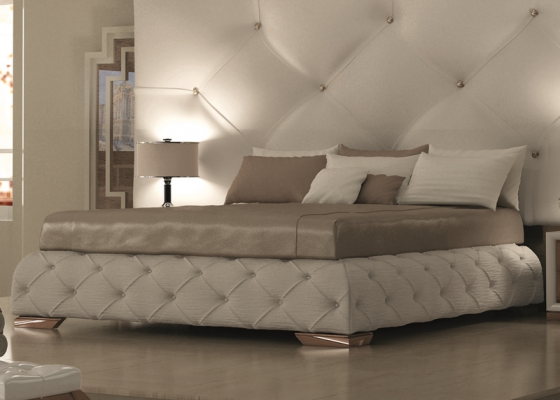 base cama para cabezal tapizada en polipiel blanco con capitonn y botones para cama de 150 cm. Black Bedroom Furniture Sets. Home Design Ideas