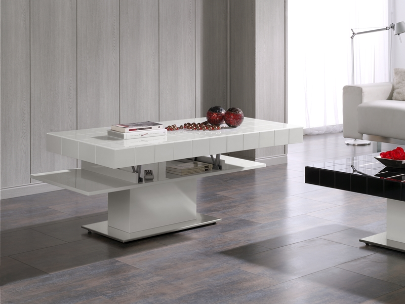 table basse avec plateau relevable mod tablet. Black Bedroom Furniture Sets. Home Design Ideas