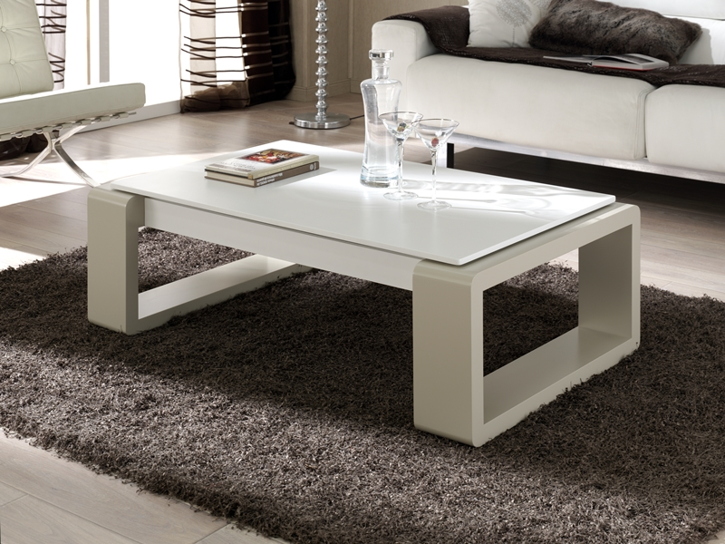 Table basse relevable mod brooklyn for Mesas de centro para sala modernas