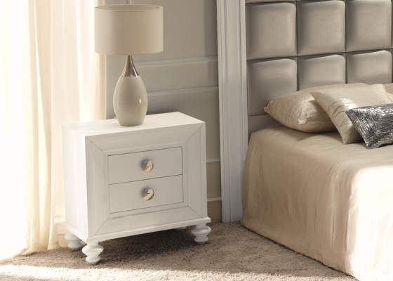 Bedside tables lacquered . Mod. GA9211