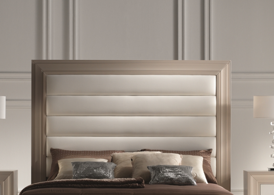 Lacquered straight headboard . Mod. GA1354